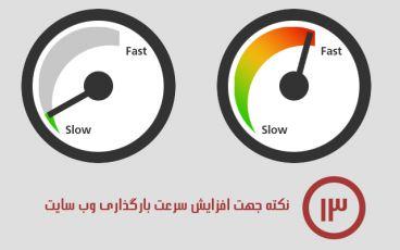 13 نکته جهت افزایش سرعت بارگذاری وب سایت