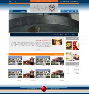 طراحی سایت به سفارش شرکت آرین صنعت