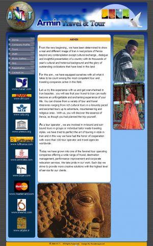 طراحی سایت به سفارش شرکت توریستی آرمین تراول