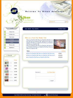 طراحی سایت به سفارش شرکت صرافی نیکان