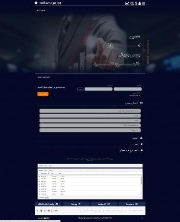 طراحی سایت شرکت محترم بورس جهانی