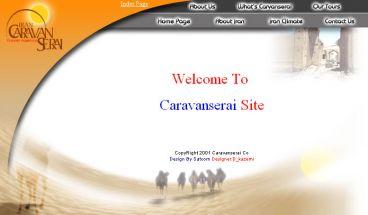 وب سایت شرکت توریستی کاروان سراهای ایران
