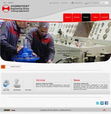 طراحی سایت به سفارش شرکت هیدروتست