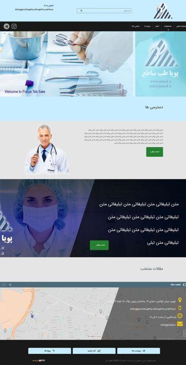 طراحی سایت شرکت Pmedco